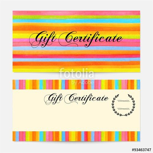 Gift certificate, Voucher, Coupon, Gift money bonus, Gift card ...