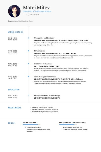 Webmaster Resume samples - VisualCV resume samples database