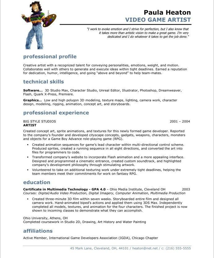 marvelous idea artist resume template 8 artist resume template ...