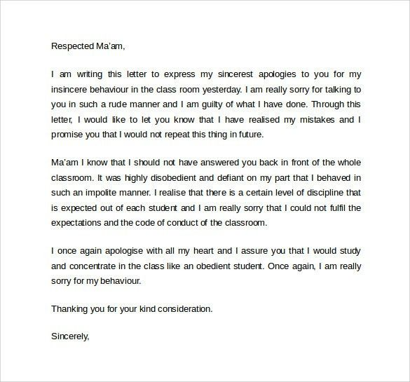 Sample Work Apology Letter - 9+ Download Free Documents In PDF, Word