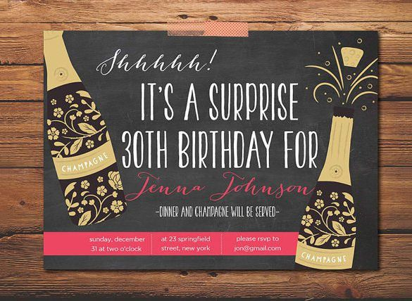 12+ Outstanding Surprise Party Invitations & Designs! | Free ...