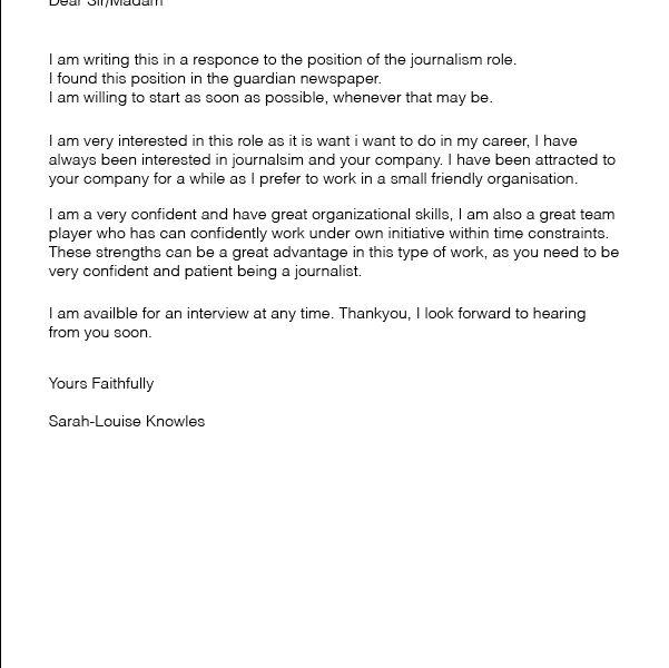 Artist Cover Letter - CV Resume Ideas