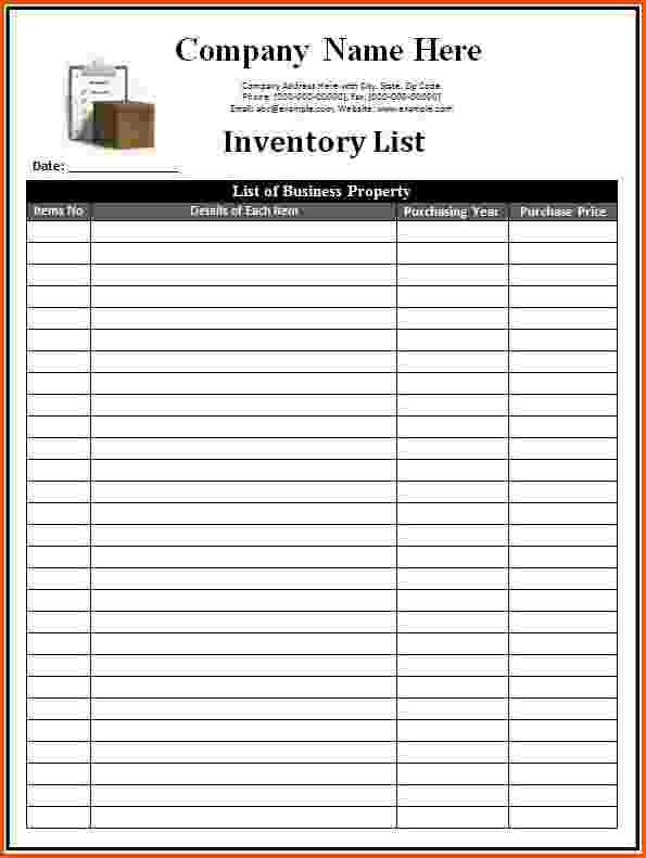 7+ Inventory List Template | Survey Template Words