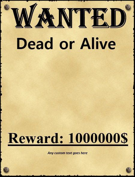 18 Free Wanted Poster Templates (FBI and Old West, Free) – Free ...