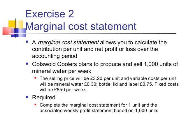 Marginal costing & breakeven analysis