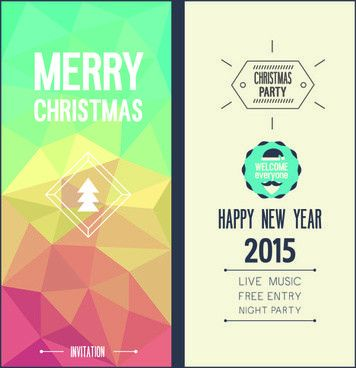 Elegant christmas invitation templates free vector download ...