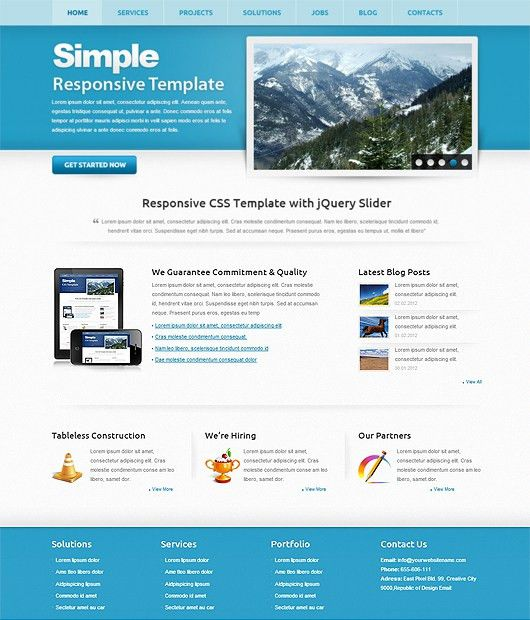 Simple – Free HTML5 CSS3 Responsive Template | Html5Mania.com ...