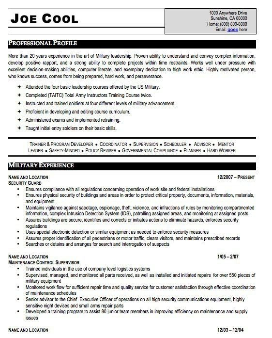 military resume writers. military flight officer resume sample ...