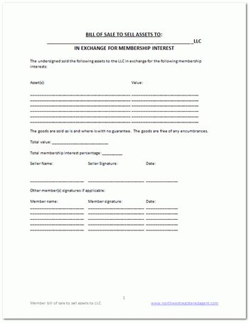 Free LLC bill of sale template | DIY Business Docs | Pinterest | Free