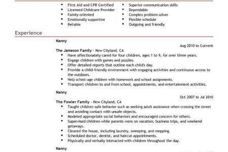 babysitter resume objective babysitter resume sample