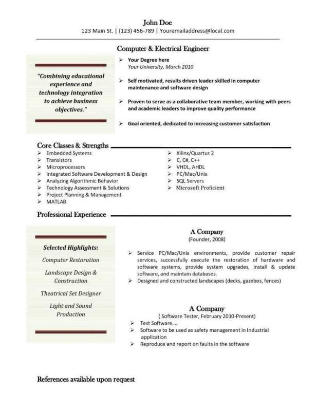 Curriculum Vitae : Example Cover Letter Format Cover Letter For ...