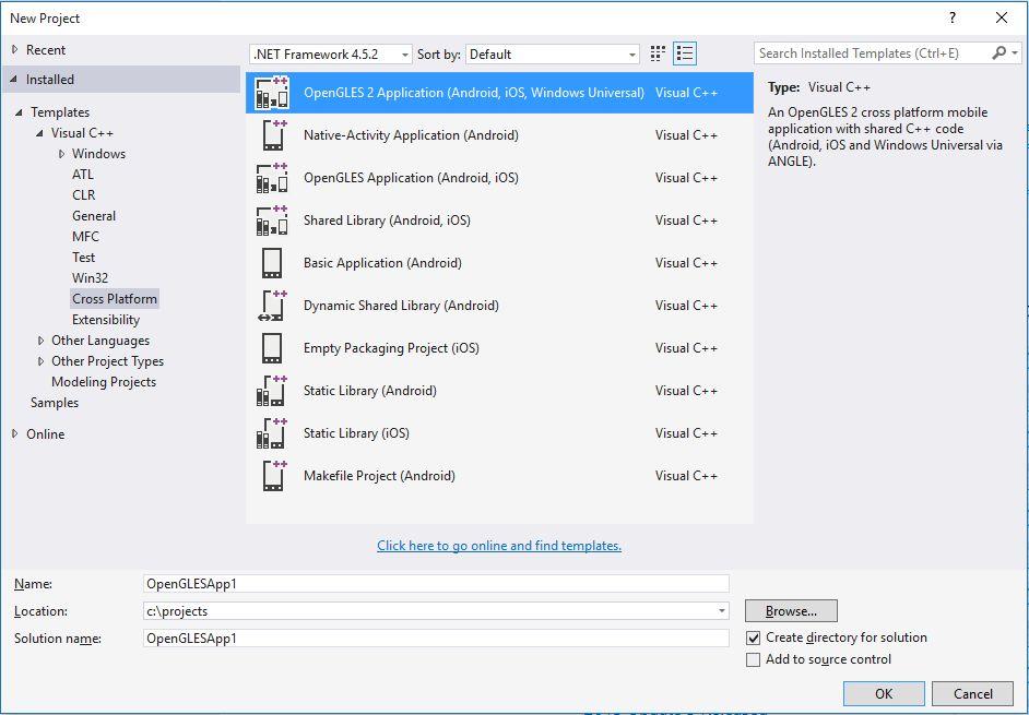 Visual C++ OpenGLES2 Project Template - Visual Studio Marketplace