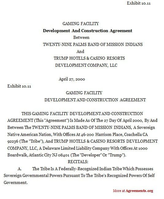 Development and Construction Agreement,Sample Development and ...