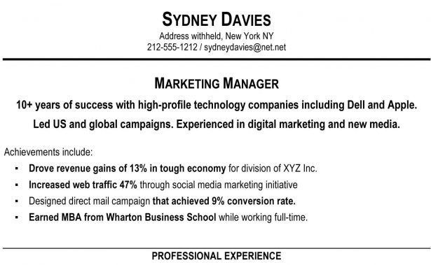 Resume : Marketing Director Cv Online Career Portfolio Quarry Wine ...