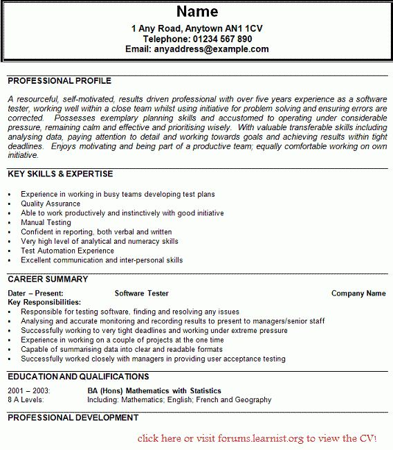 sample fresher resumes