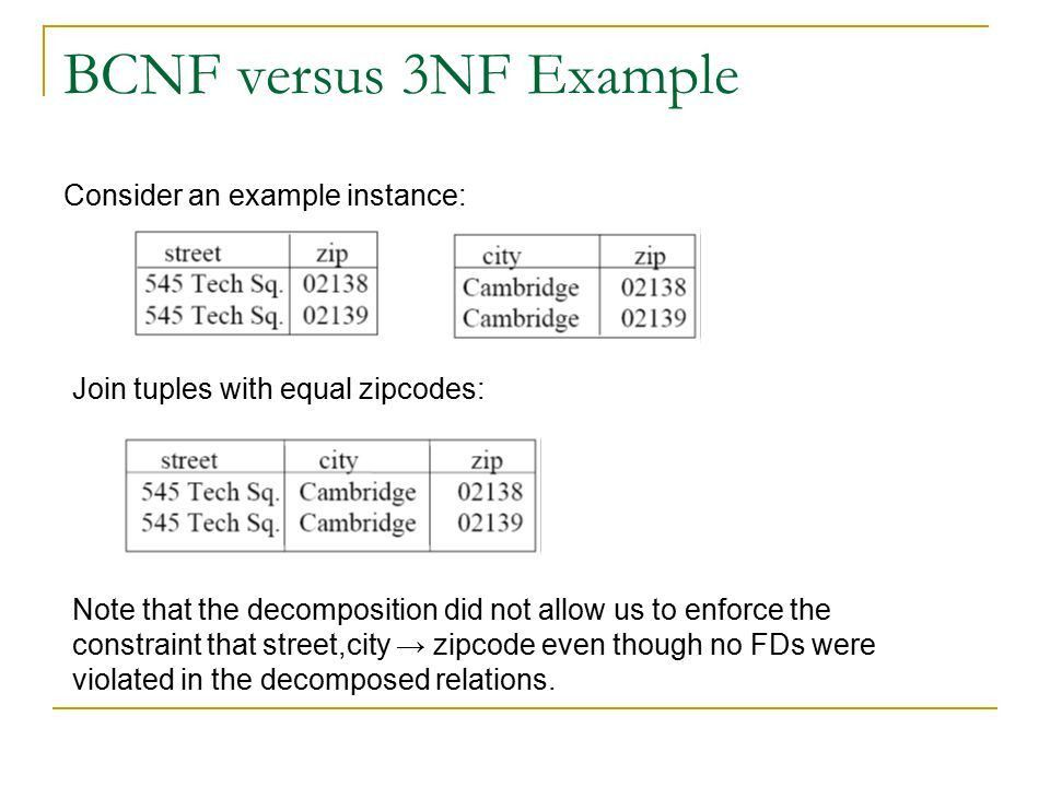 Ch 7: Normalization-Part 2 Much of the material presented in these ...
