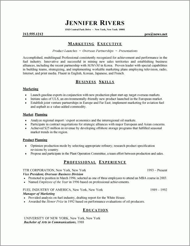 standard format of resume download professional resume format free ...