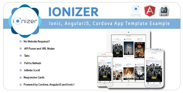 Ionizer - Ionic, AngularJS & Cordova App Template & Example by ...