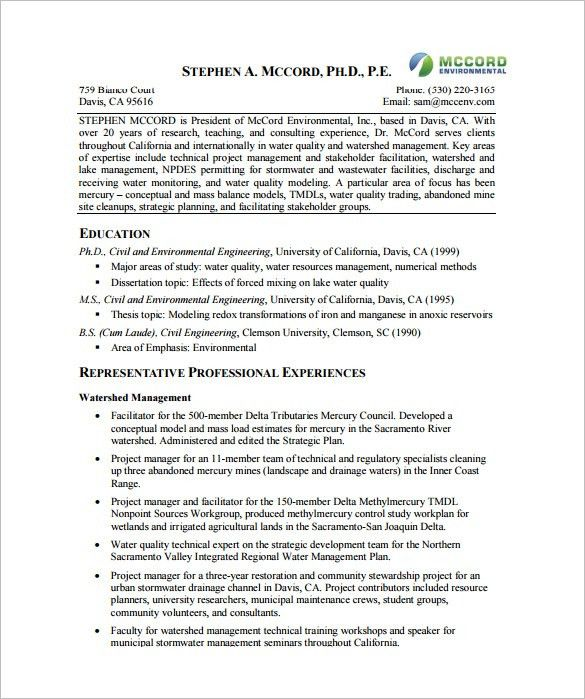 Project Manager Resume Template – 8+ Free Word, Excel, PDF Format ...