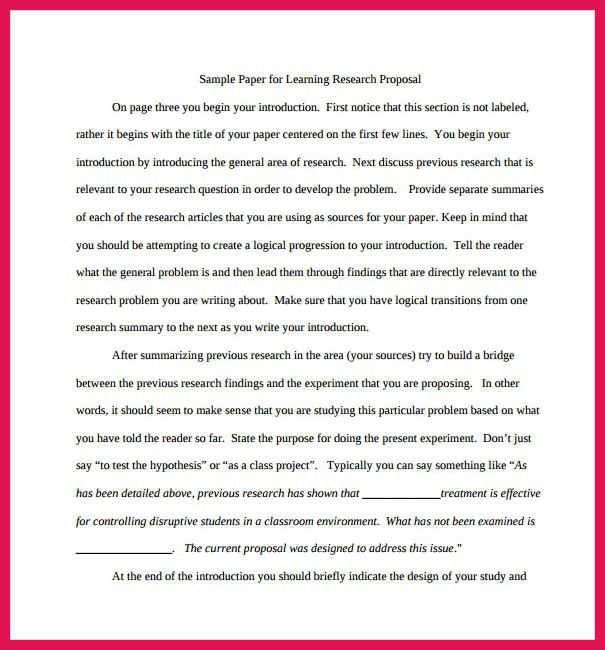 Research Paper Proposal Template. Research Proposal Template 11 ...