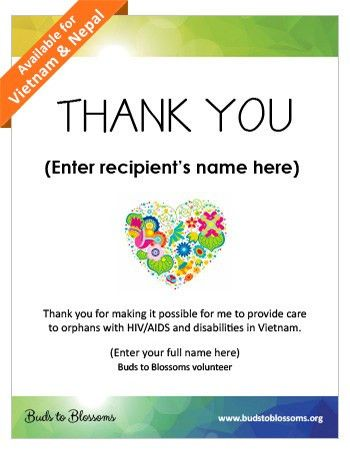 Buds to Blossoms: Fundraise: Resources and Downloads