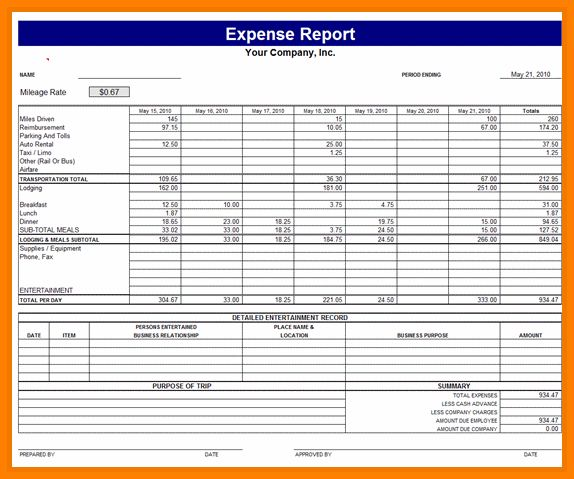 9+ monthly expense report template | monthly bills template