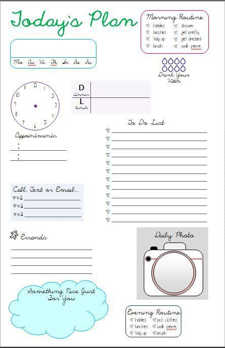 Best 25+ Daily planner pages ideas only on Pinterest | Planner ...