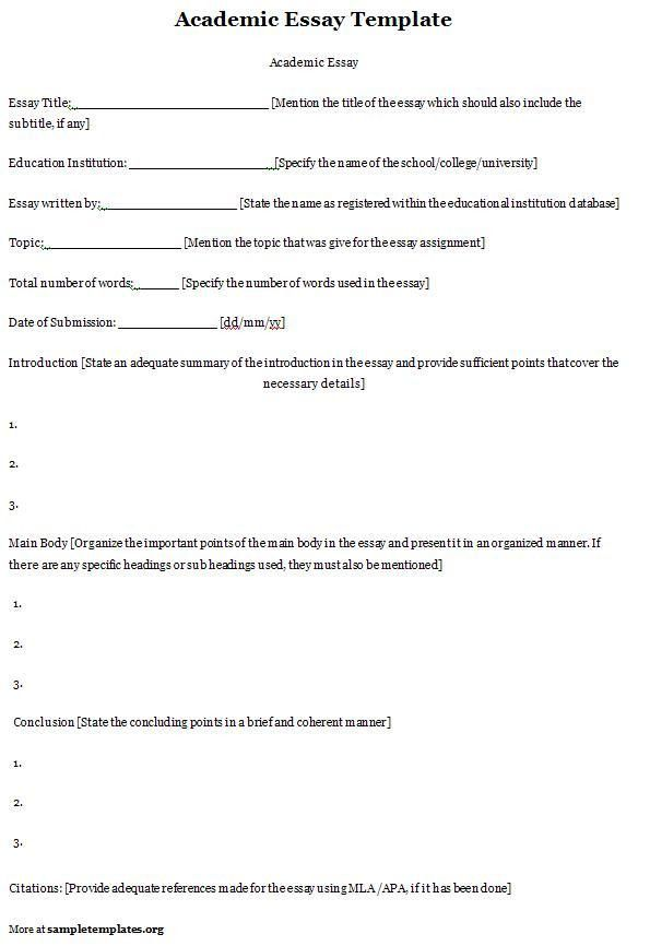 Free Sample College Admission Academic essay