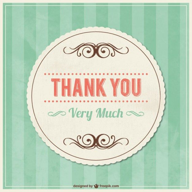 20+ Thank You Card Template Vectors   Download Free Vector Art ...