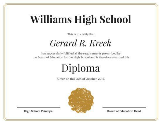 Diploma Certificate Templates - Canva