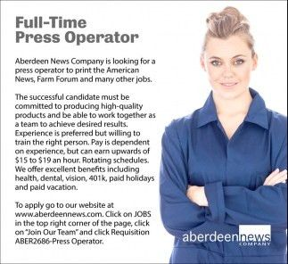Full-Time Press Operator, Aberdeen News