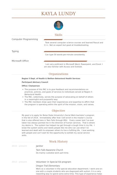Janitor Resume samples - VisualCV resume samples database