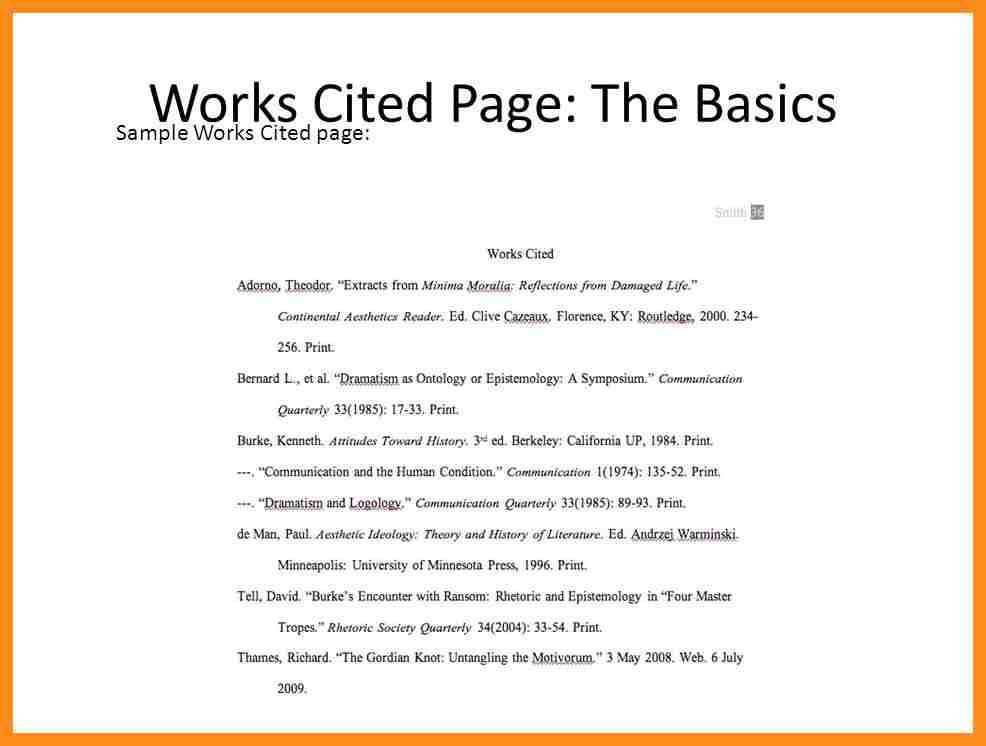 8+ example works cited page | resume setups