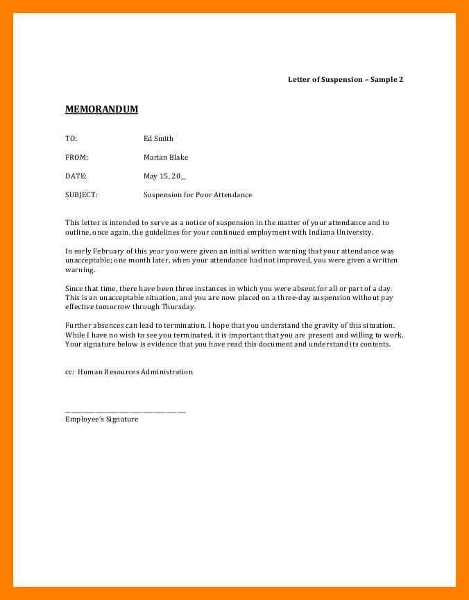 9+ letter of suspension | noc certificate