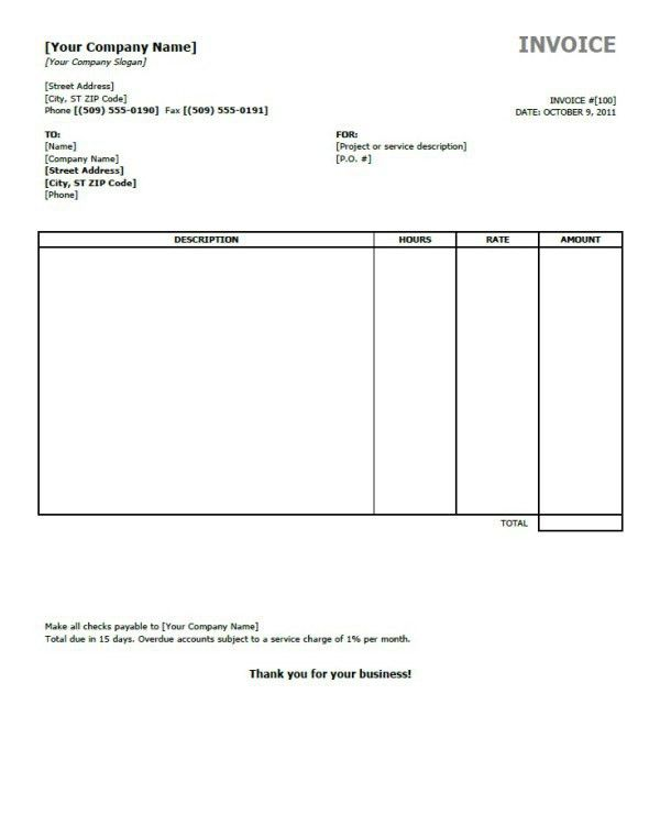 Invoice Printable. Service Invoice - 28+ Download Documents In Pdf ...