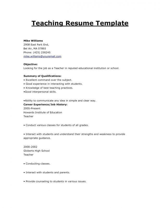 Resume : Summarize Your Special Skills Or Qualifications Teacher ...