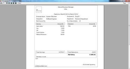Web Based Payroll Management Services - Salary Slip Generation ...