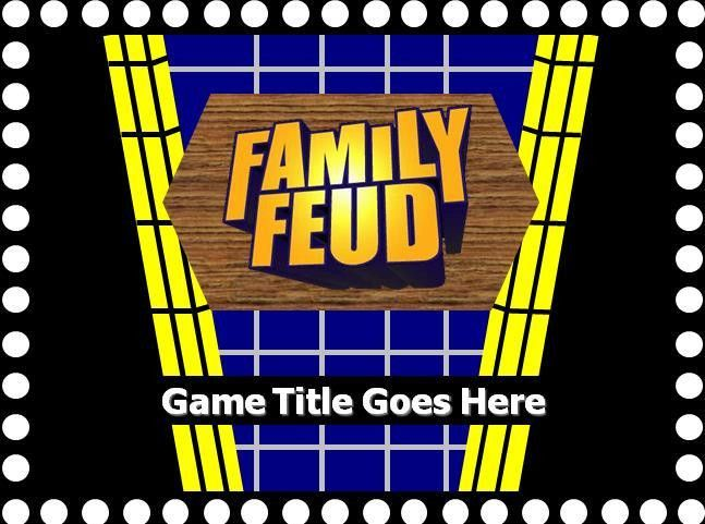 Family Feud with sound Powerpoint Template Free | Professional ...