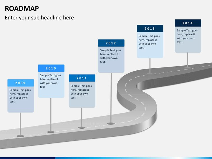 free powerpoint templates roadmap product roadmap timeline 2012 to ...