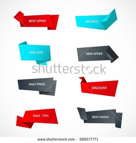 Vector Stickers Price Tag Banner Label Stock Vector 587927939 ...