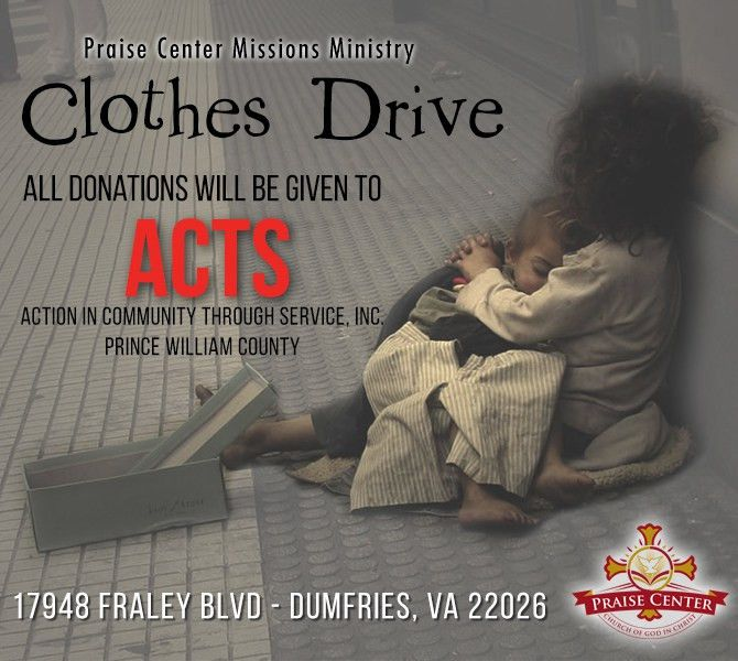 Clothes Drive - Praise Center Church Of God In ChristPraise Center ...