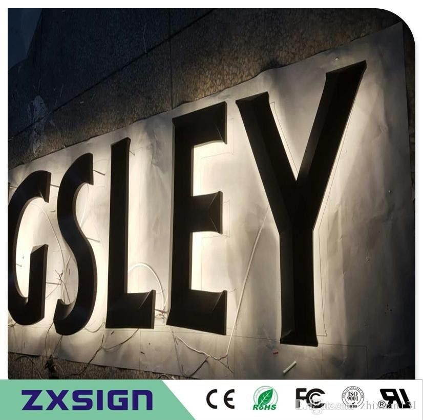 Factory Outlet Outdoor Advertising 3D Bronze Color Backlit Letter ...