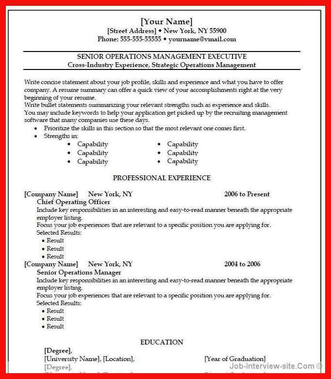 best word resume template | apa example
