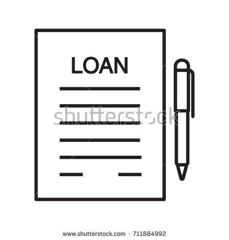 Loan Agreement Glyph Color Icon Mortgage Stock Vector 679473463 ...