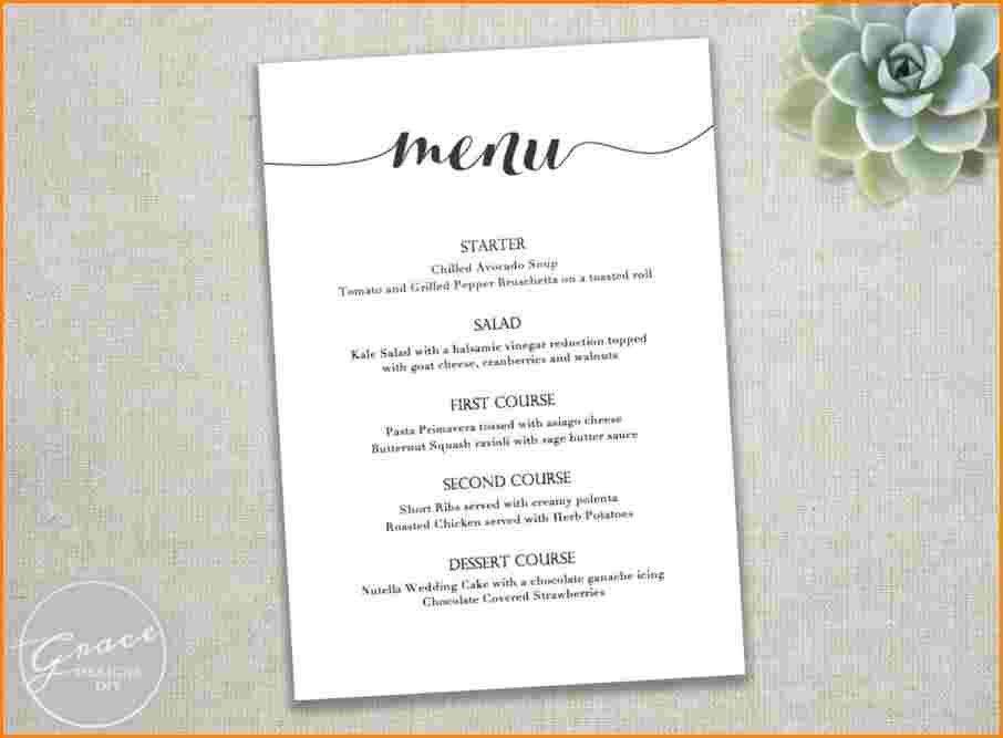 7+ dinner party menu template | worker resume