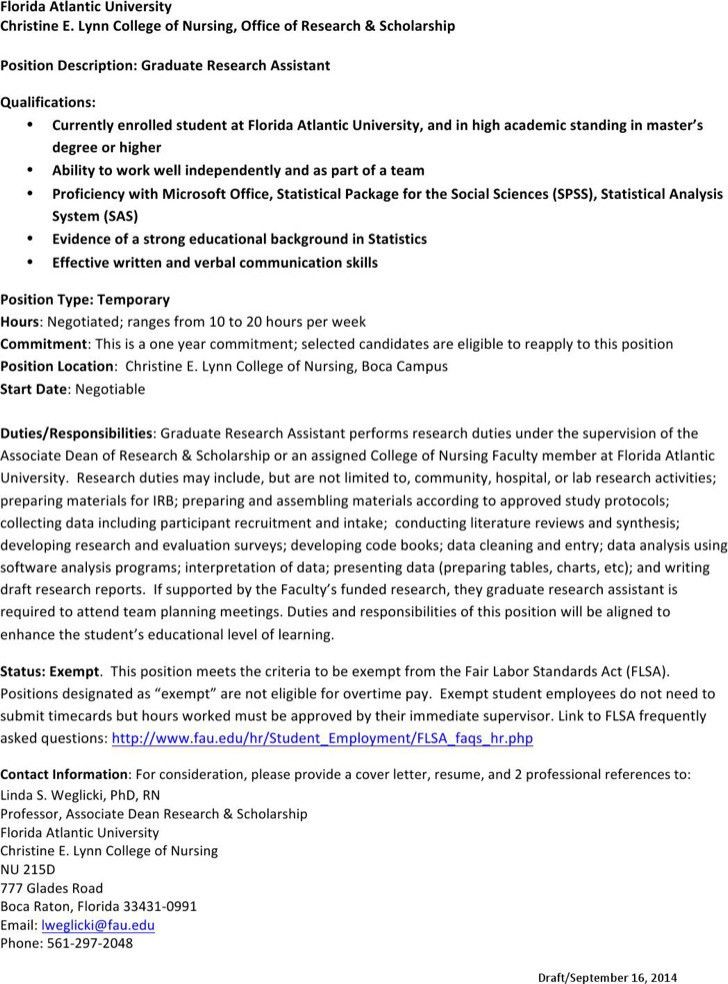 research assistant cover letter professional research assistant