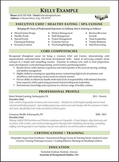 Executive Chef Resume Sample Example 4 | ilivearticles.info