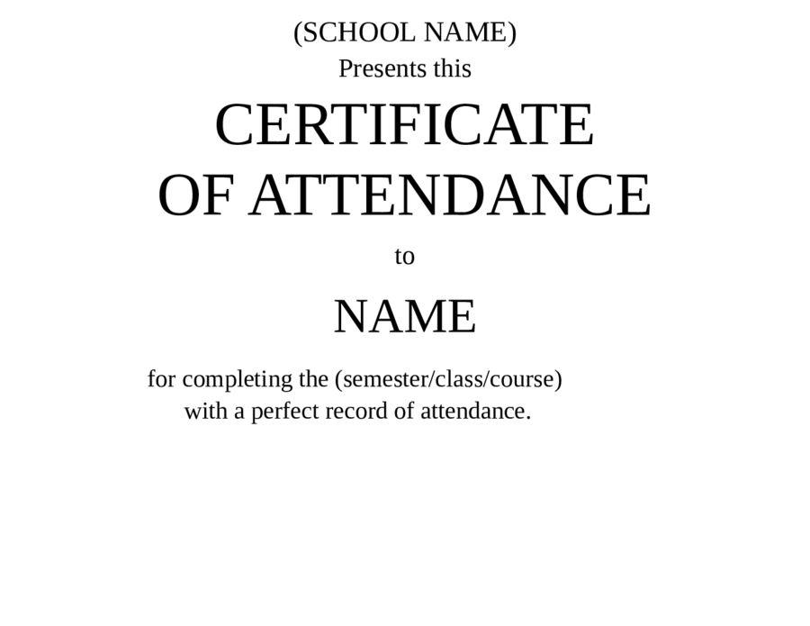 Certificate of Attendance - Free Certificate of Attendance ...