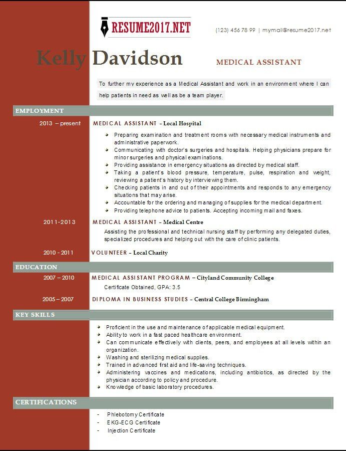 TOP 6 Medical Assistant resume templates 2017 •