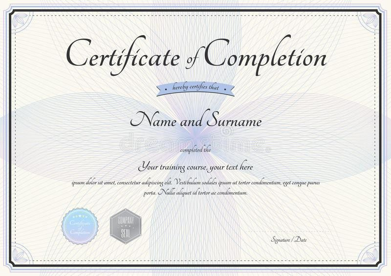 Certificate Of Completion Of Training Template 96 | Samples.csat.co